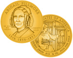 Abigail Fillmore First Spouse Gold Coin and Medal Available March 18